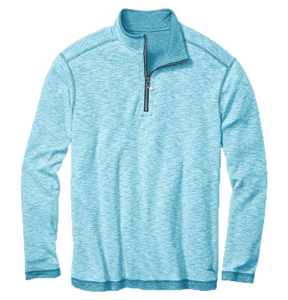 Tommy Bahama Sea Glass Reversible Half-Zip Sweatshirt (Blue, L)