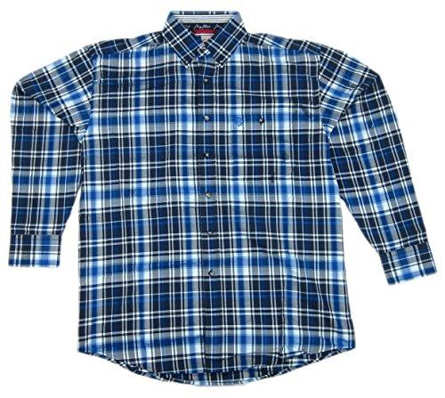 - Wrangler Mens George Strait Long Sleeve Blue Plaid Shirt MGS34BM Medium