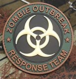 Tenkey 3d PVC Glow Zombie Hunter Outbreak Response Team Biohazard Forest Velcro Patch (1 PCS)