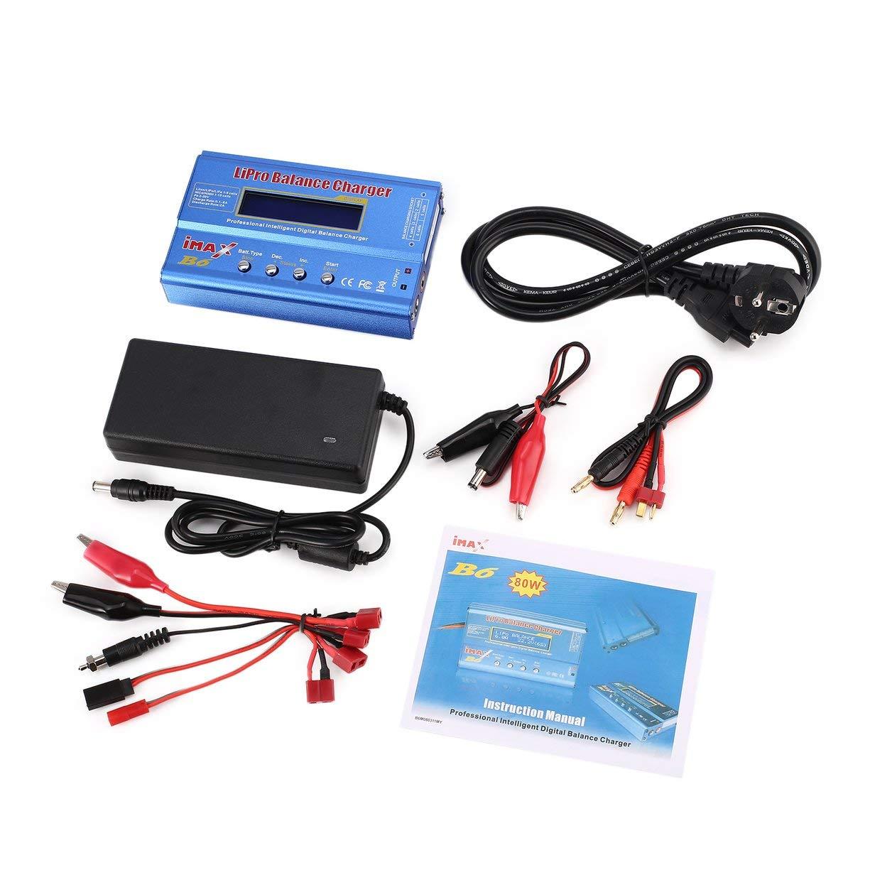 Cargador iMAX B6 Balance de batería, iMAX B6 80W 6A Lipo ...