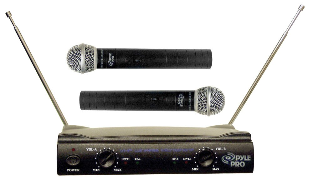 Pyle-Pro PDWM2500 Dual VHF Wireless Microphone System Pyle Pro Sound Around