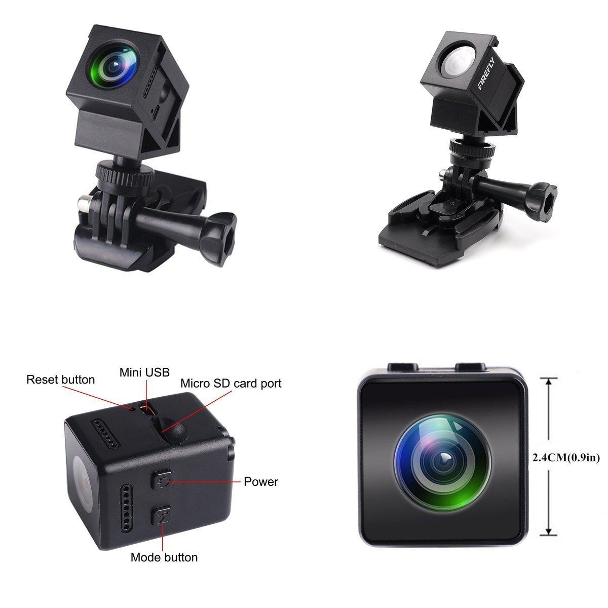 Mini cámara Hawkeye Firefly HD 1080P FPV Micro cámara de acción Mini cámara oculta SPY con DVR FOV 160 ° micrófono incorporado para RC Drone: Amazon.es: ...