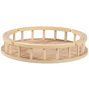 Wood Lazy Susan Turntable, 16-Inch Diameter