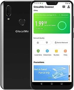 "GlocalMe S20i Unlocked Smart Phone with 1GB Global & 8GB US Data, SIM Free Roaming Free World Phone, 6.26"" FHD, Dual-SIM, 128GB, Dual Camera, Full Band Supported Black (Black, S20i)"