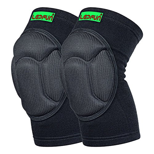 Lepfun S9000 Knee Pads, (1Pair) Thick Sponge Anti-Collision Kneeling Kneepad Support for Outdoor, Climbing and Sports (Small/Medium, S9000 Black)