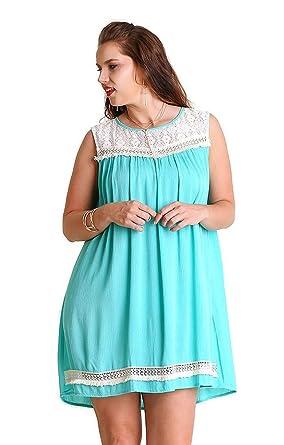 2e05d0c843e Umgee Boho Chic Scalloped Hem T-Shirt Dress reg    Plus Size 1621