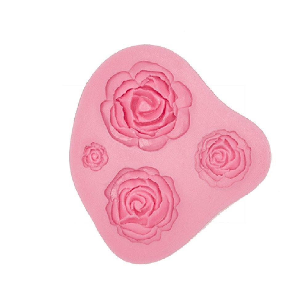 iGoodCake Molde de Silicona para Fondant 4 Rosas