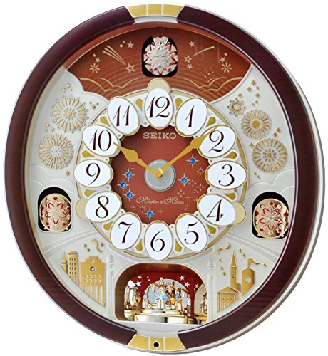 Seiko Special Edition Melodies in Motion Wall Clock with Swarovski Crystals (Music City Gifts)