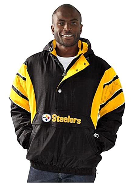 new product d0fdc 3924a Pittsburgh Steelers Jacket with Hood Steelers Starter Jacket NFL