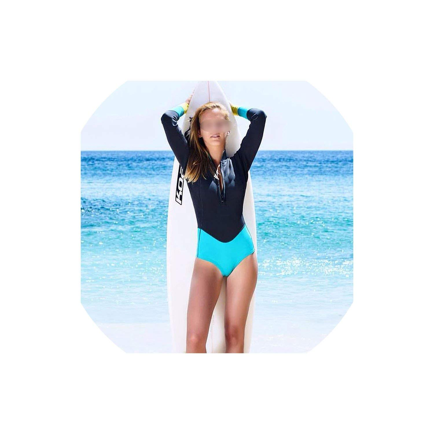 As Picture1 YPfashion Sexy One Piece Swimsuit Long Sleeve Swimwear Women Print Floral
