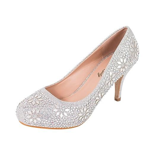 Amazon.com | Mila Lady\'s Cinderella Princess Sparkle Crystal Gem ...