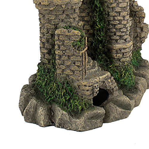 Hygger Aquarium Ornaments Fish Tank Decorations Castle Cave Resin Roman Column, Non-toxic Durable Resin Material, Safe for Fish by Hygger (Image #5)