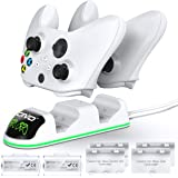 OIVO Controller Charger Compatible with Xbox Series, One/S/X Controller, Dual Charging Station Updated LED Strap,Charger Dock
