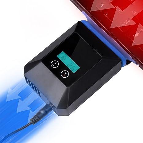 XGUO mini refrigerador portátil para PC, base de refrigeración para ordenador portátil (Negro)