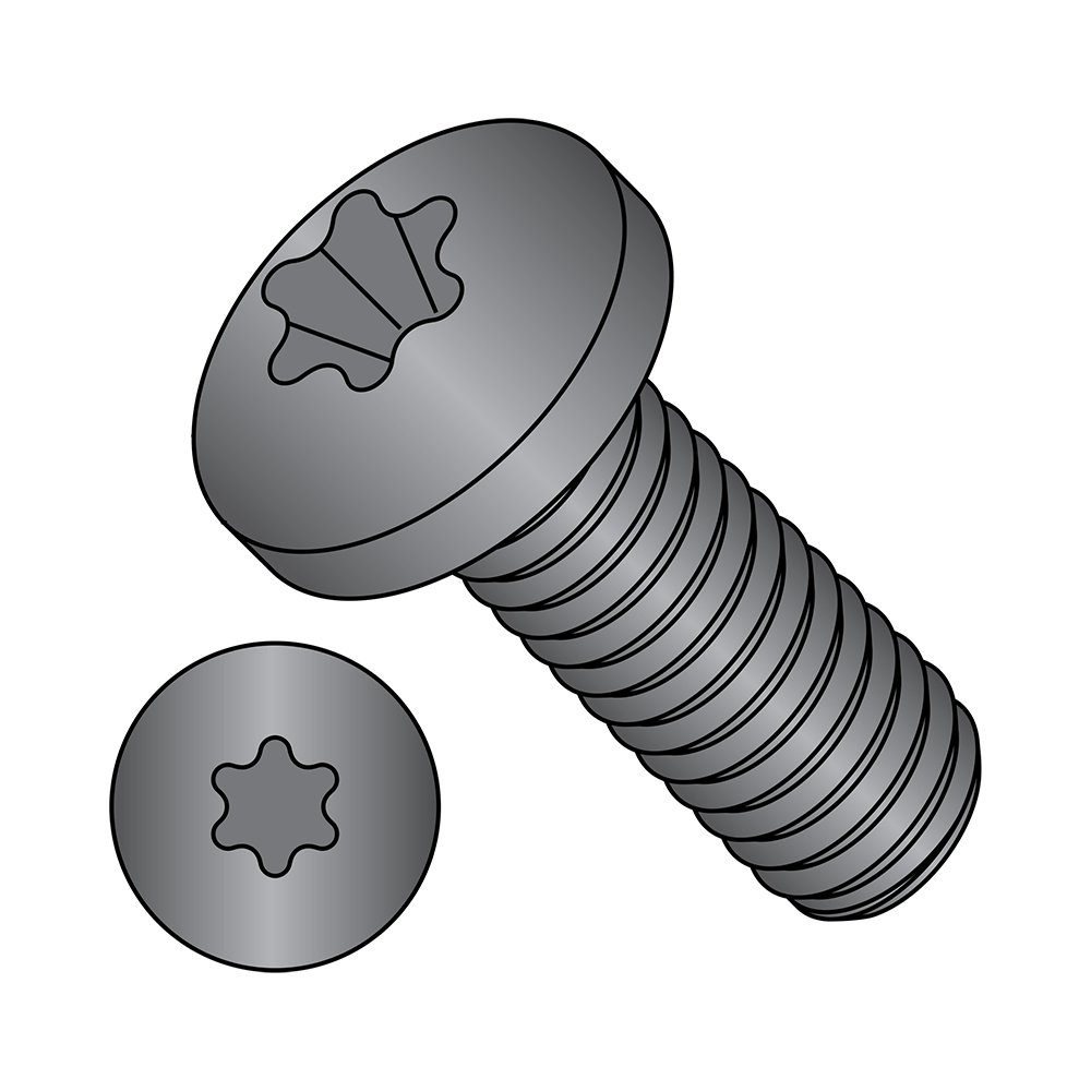 1//4-20 Thread Size Pack of 25 T30 Star Drive Steel Pan Head Machine Screw Imported 1-1//4 Length Meets ASME B18.6.3 Black Zinc Plated Fully Threaded