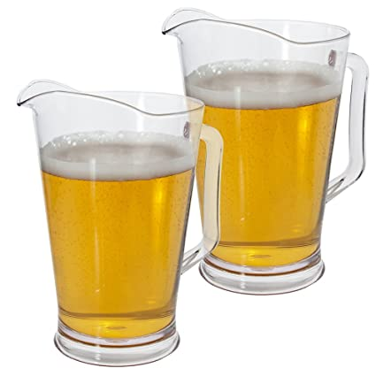 amazon com restaurant style 64 ounce plastic water beer pitcher