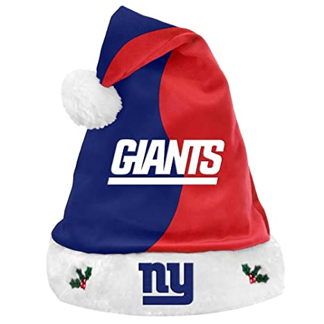 35dae773bb3 Image Unavailable. Image not available for. Color  Team Logo Christmas  Holiday Santa Hat New York Giants