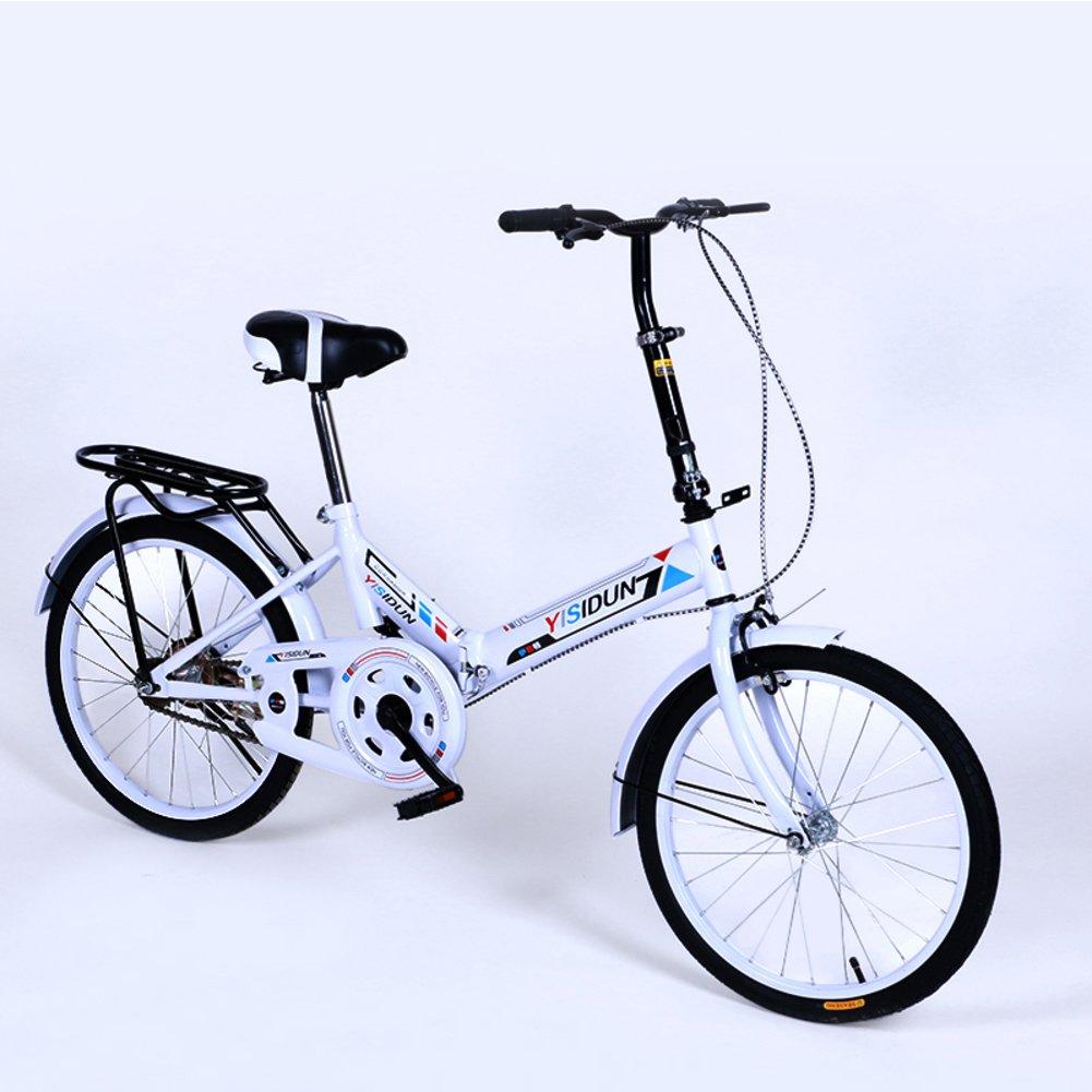 女性 折りたたみ自転車, 大人 折りたたみ自転車 女性自転車 男女 スタイル 学生の車 折りたたみ自転車 B07D2CFPHT白 20inch