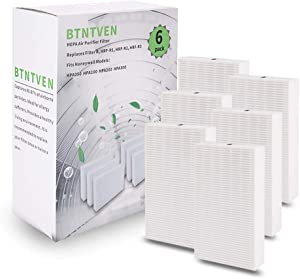 6 Pack of Purifier Replacement HEPA Filters for Honeywell HRF-R3, HRF-R2, HRF-R1, Filter R - Fits Honeywell Air Purifier HPA300, HPA200, HPA100, HPA090 Series and other Allergen Remover Air Purifiers