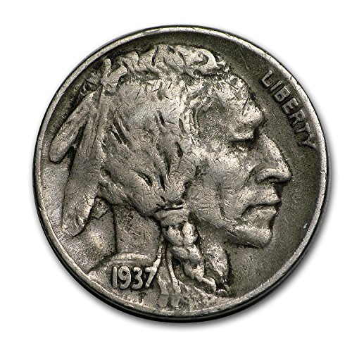 1937 D 3-Legged Buffalo Nickel VF Nickel Very Fine