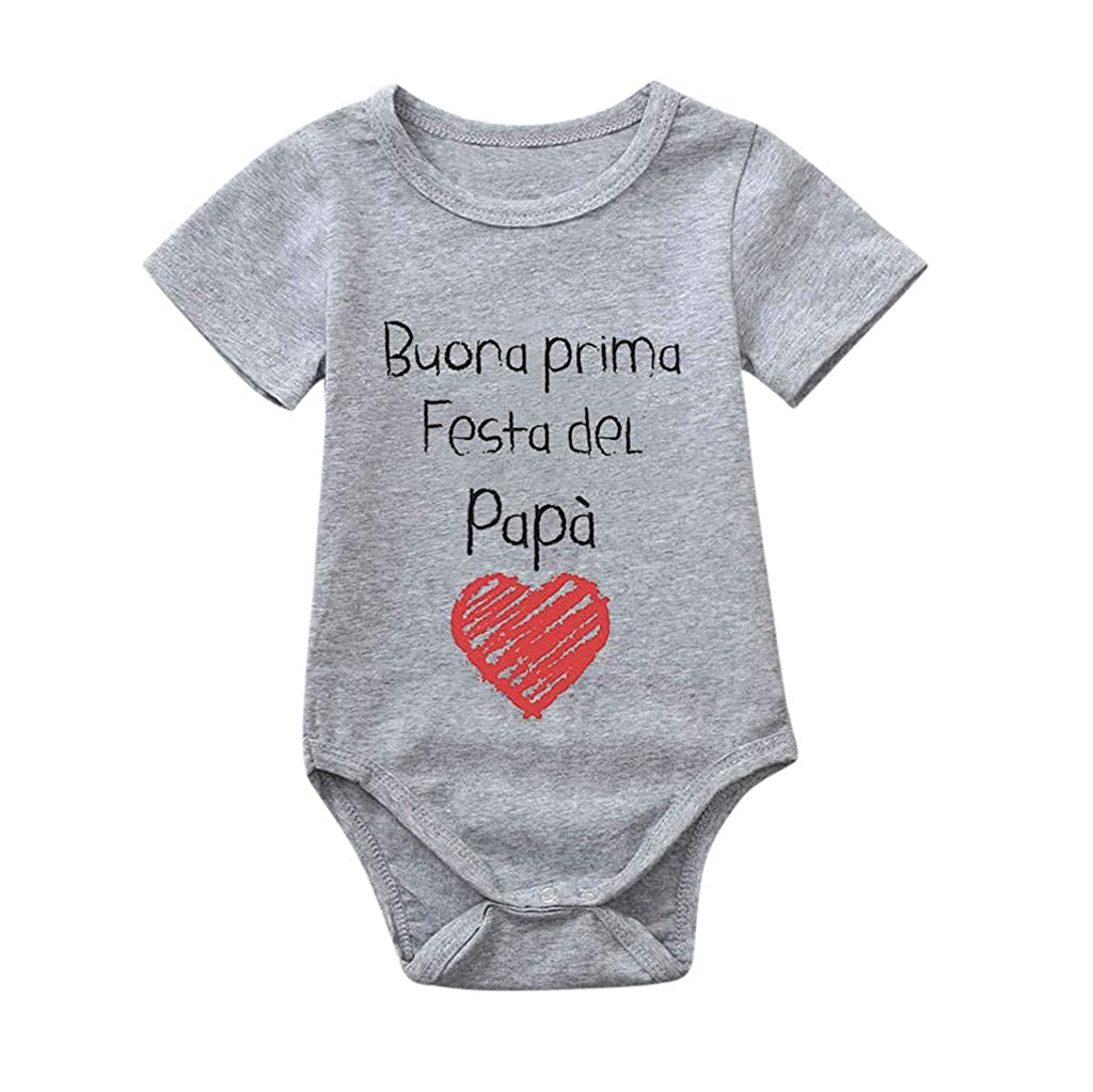 SANGQU Toddler Unisex Baby Jumpsuit,Short Sleeve Cotton Cartoon Print Rompers