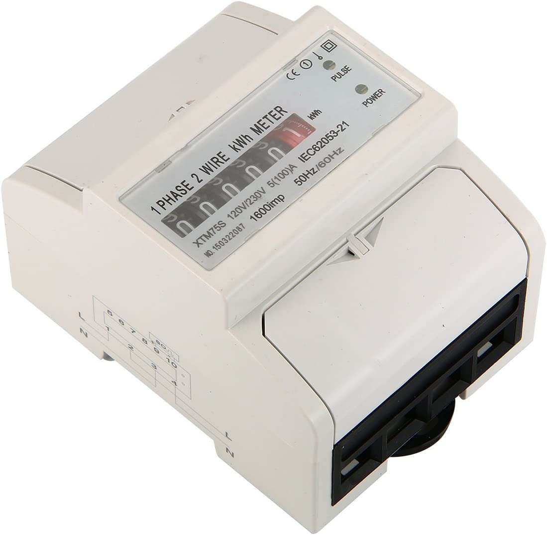 A AC Power Meter Electricity kWh Counter Din Rail BI104 100 XCSOURCE /&apos 230/V 5/