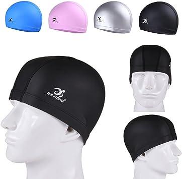 10/% Spandex Durable Swimming Caps for Women Men Stretchy Swimming Pool Water Hats Comfort Performance 2515 cm 90/% Nylon HoneyGod Adult Swimming Swim Cap
