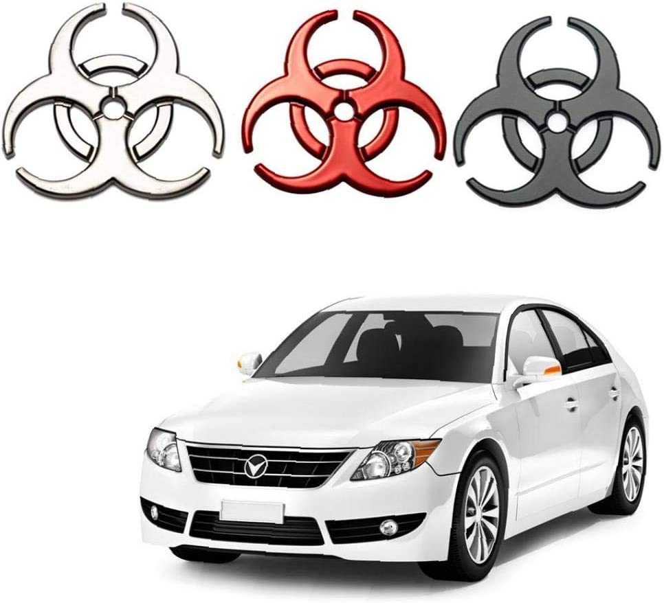 Resident Evil Metal Decal Decorative Car Sticker Personalized Biohazard Symbol Car Decal Red