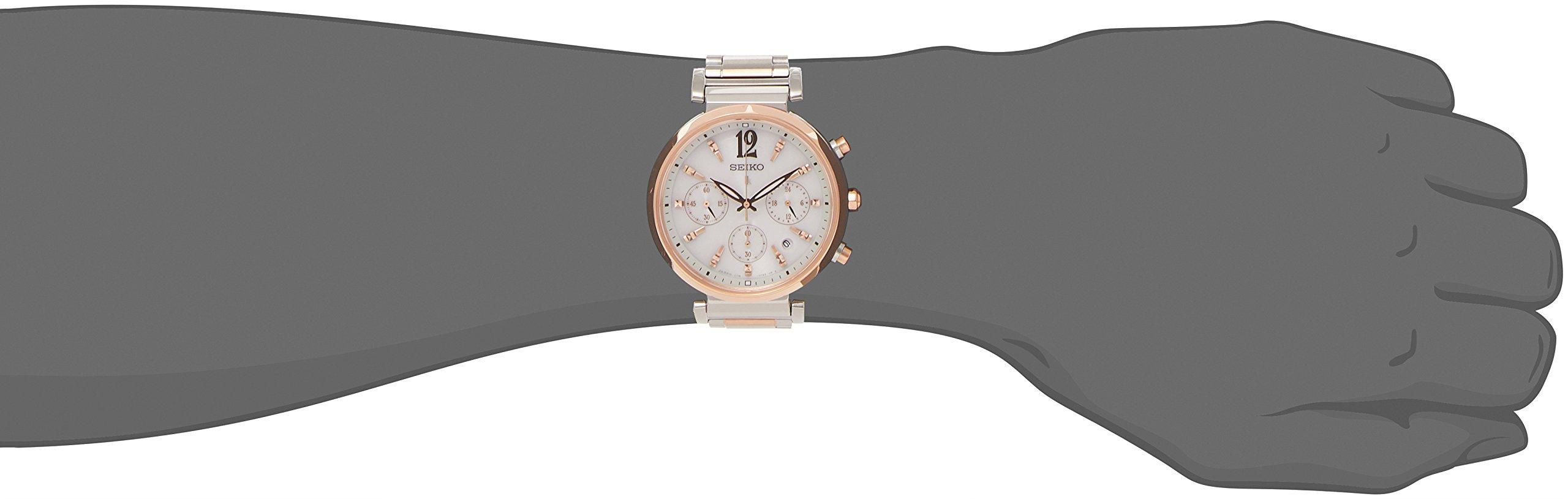 LUKIA solar watch SEIKO chronograph ladies type SSVS034 popularity by LUKIA