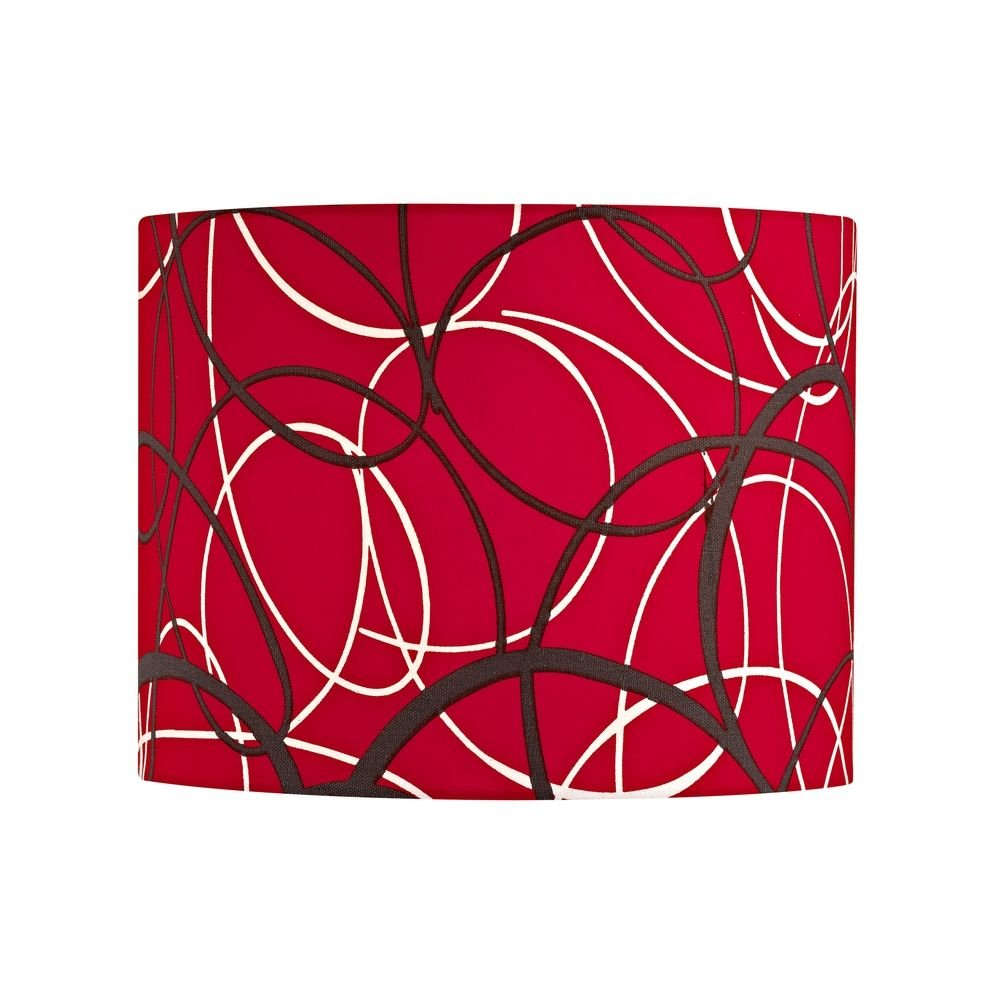 Red and Grey Drum Lamp Shade with Spider Assembly by Design Classics (Image #1)