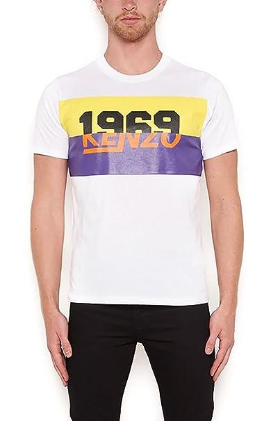 Kenzo Hombre F855ts0184sb01 Blanco Algodon T-Shirt