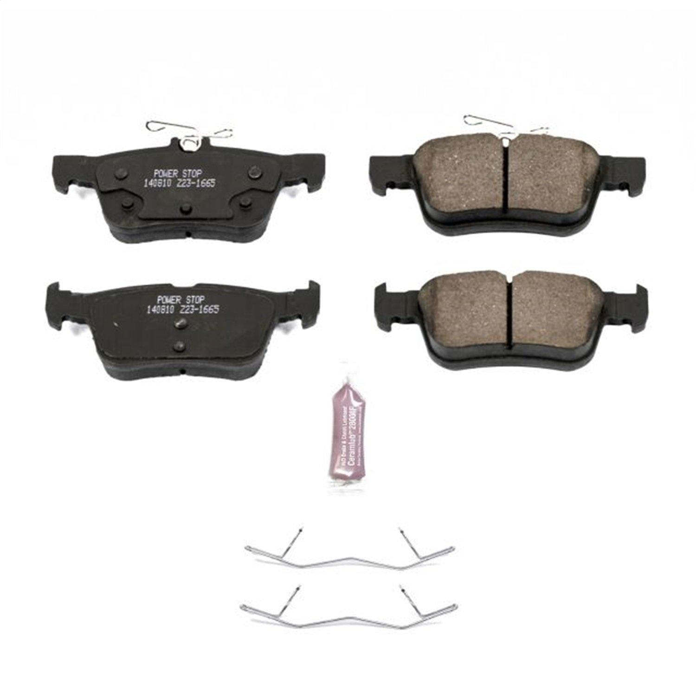 Power Stop Z23-1665, Z23 Evolution Sport Carbon-Fiber Ceramic Rear Brake Pads