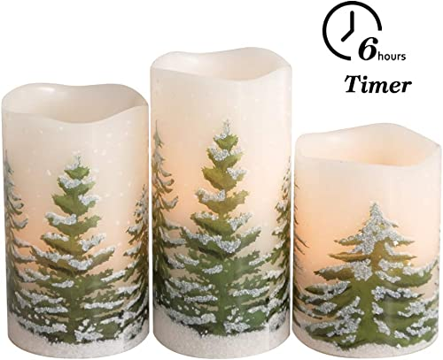 Warren Flameless LED Candles Set of 9 Real Wax Candles 10-Key Remote Control with Timer Function 300 Hours by 2 AA Batteries Waterproof Outdoor Indoor Candles for Gift, Wedding, Votive, Yoga and Deco