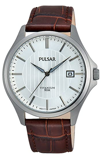 Pulsar PS9435X1 - Reloj analógico de cuarzo para hombre, pulsera de cuero: Amazon.es: Relojes