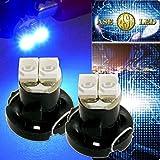 2連 LED T4.2 バルブ メーターパネル球 ブルー2個 as11127-2