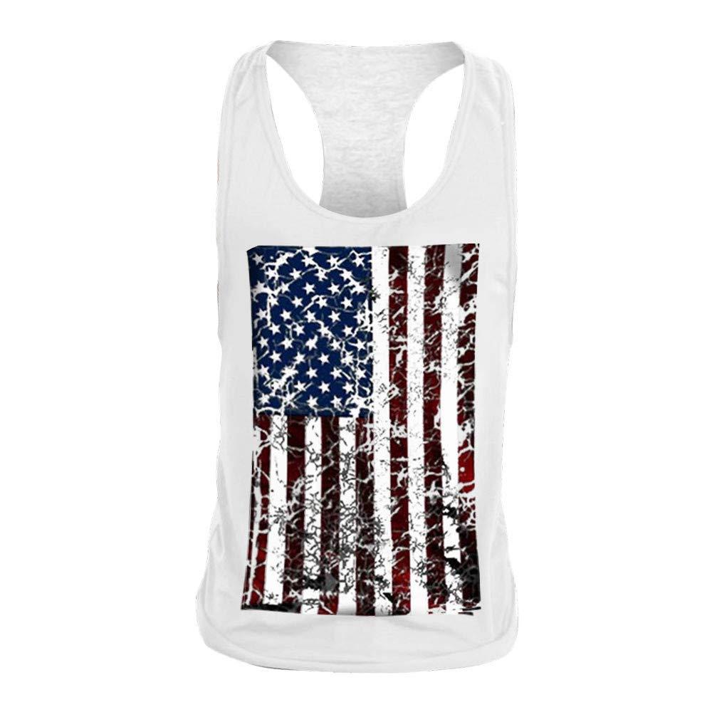 Men Tank Top Undershirt Kstare Mens Beach Sleeveless Shirt Tees Cool T-Shirts Shirts Sport Gym Fitness Vest Tops