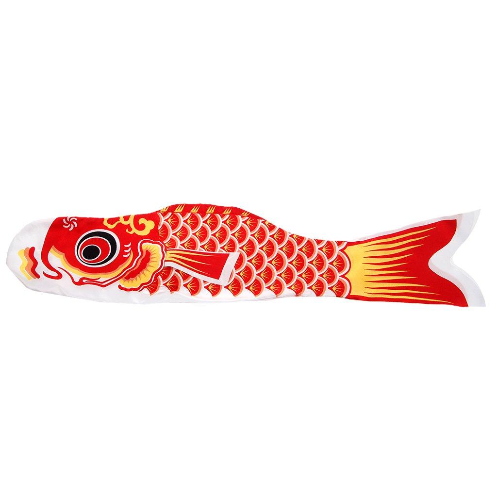 Shaoge Wind 55cm Koi Nobori Carp Wind B0734WSSTY Socks Koinobori Colourful Carp Fish Flag Hanging Wall Decor (Red) B0734WSSTY, 激安オーダーブラインド専門店:0598f579 --- artmozg.com