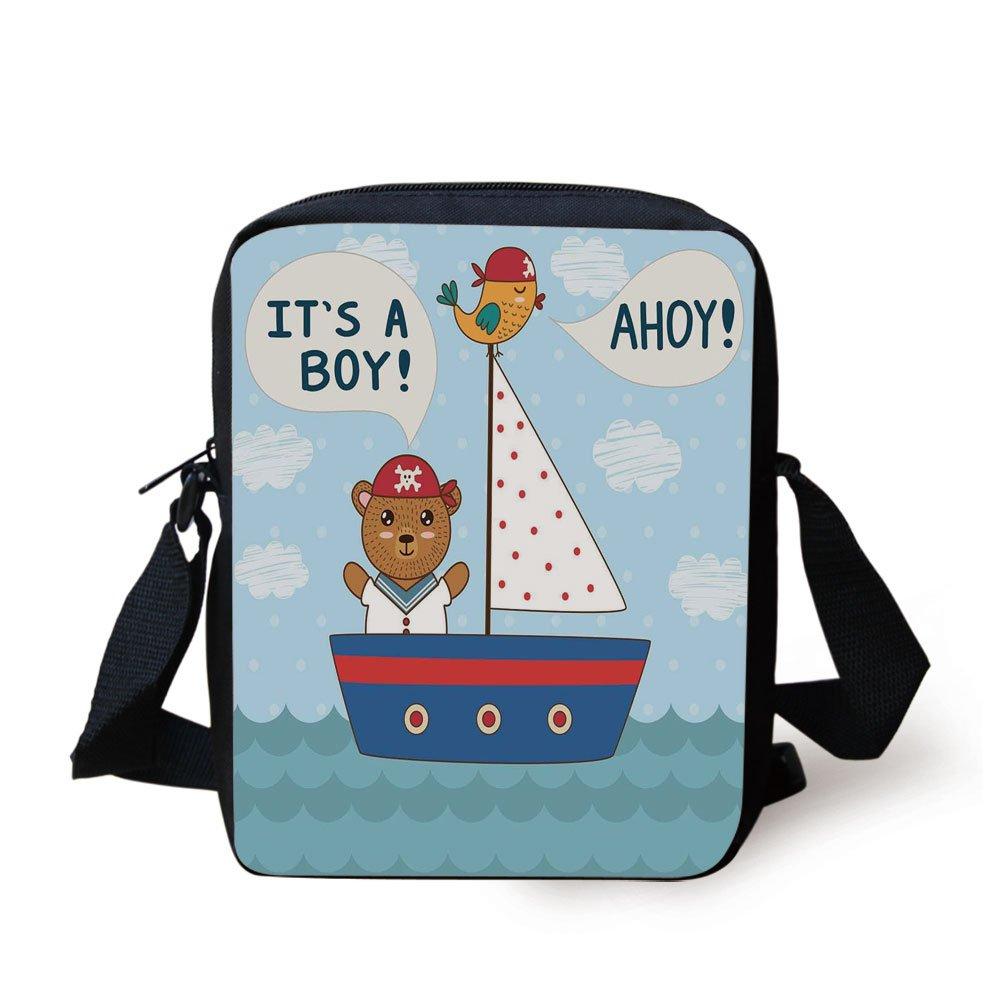 Amazoncom Iprint Ahoy Its A Boycute Baby Shower Theme Its A Boy