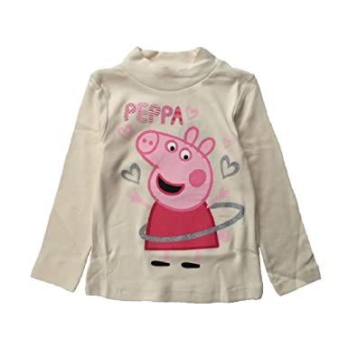 81161b7ef Peppa Pig Girls Licensed Long Sleeve Top in Pink and Cream, Ages 3-8  Available (5, Cream): Amazon.co.uk: Clothing