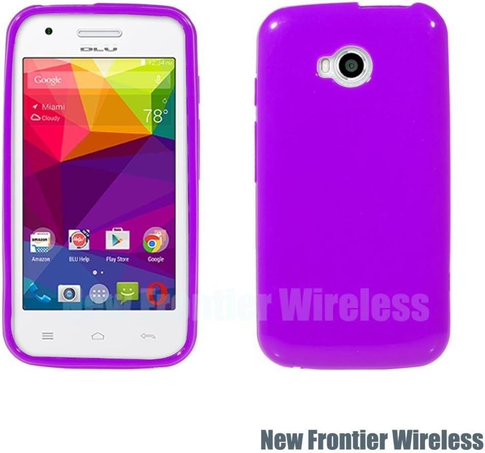 BLU Dash L (D050U) TPU Gel Rubber Soft Skin Silicone Protective Case Cover (TPU Purple)