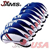JamisDIRECT Golf USA Flag Neoprene Golf Club Head Cover Wedge Iron Protective Headcover Set USA Official FLAG Logo. FAST SHIP!