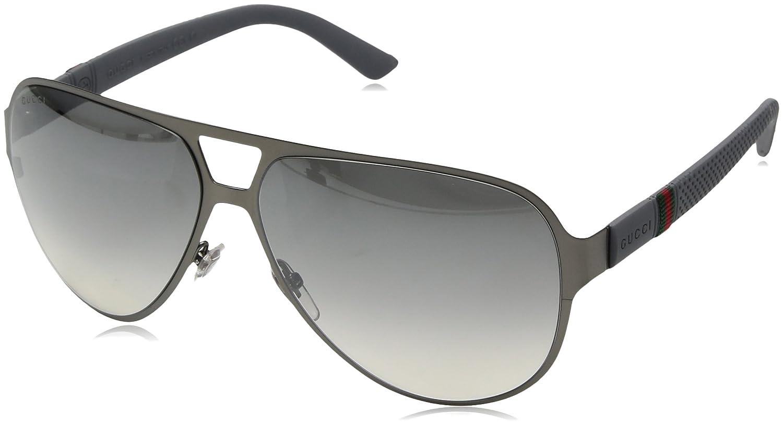 54b67f0ac9211 Gucci Men s 2252 Ruthenium   Grey Rubber Frame Grey Gradient