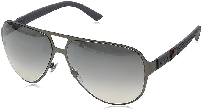 e5649264652 Gucci Men s 2252 S Metal Aviator Sunglasses