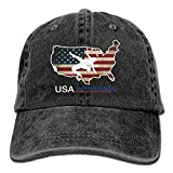 Wagroo Men and Women USA Wrestling Vintage Jeans Baseball Cap