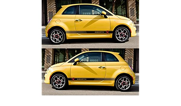 Amazon.com: Euro 500c 500 Grande Punto Racing Stripes Italy Sticker Turbo motorsport performance: Automotive