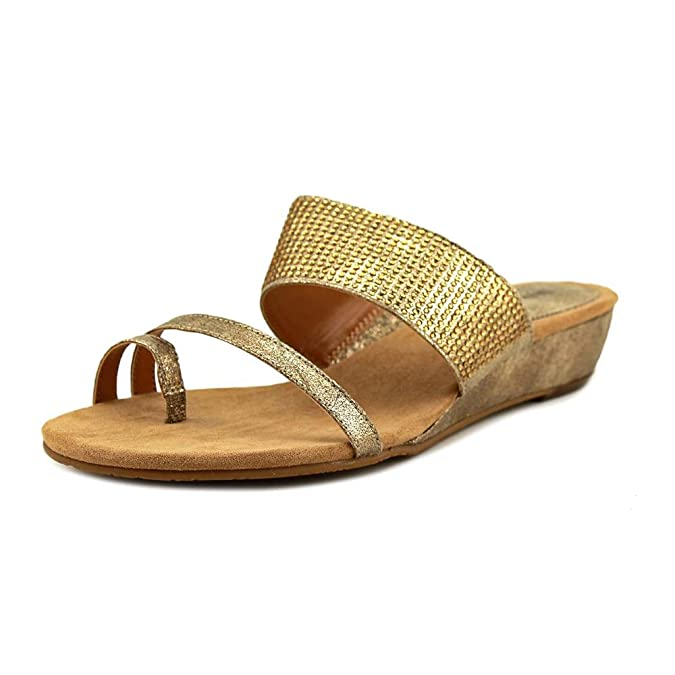 Style Co Womens Heidee Open Toe Casual Slide Sandals Gold Size 70