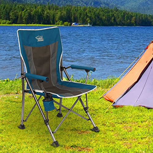 Timber Ridge Smooth Glide Lightweight Padded Folding Chair
