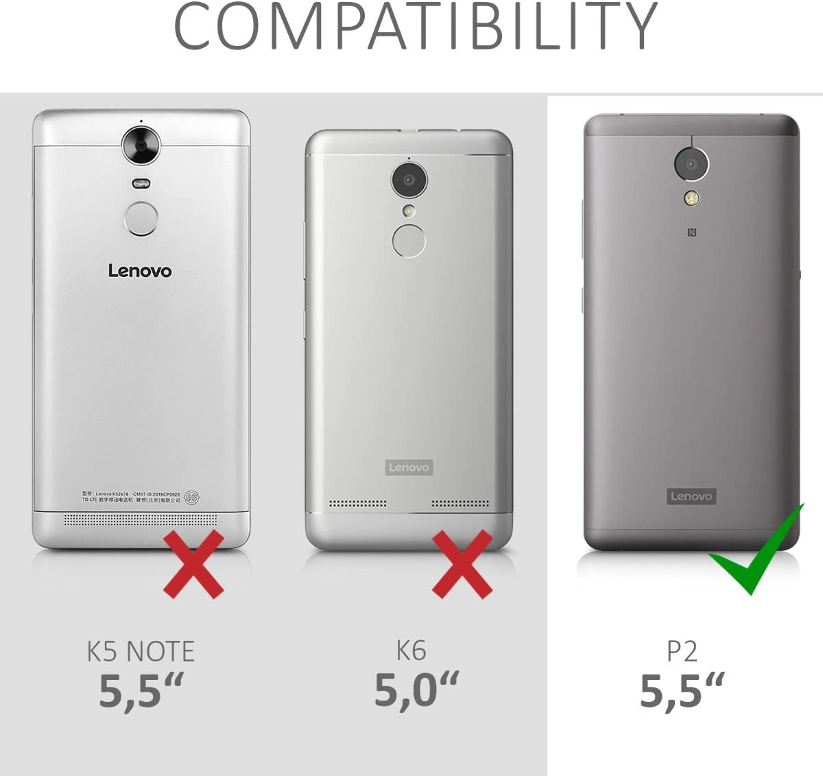 kwmobile Funda Compatible con Lenovo P2: Amazon.es: Electrónica