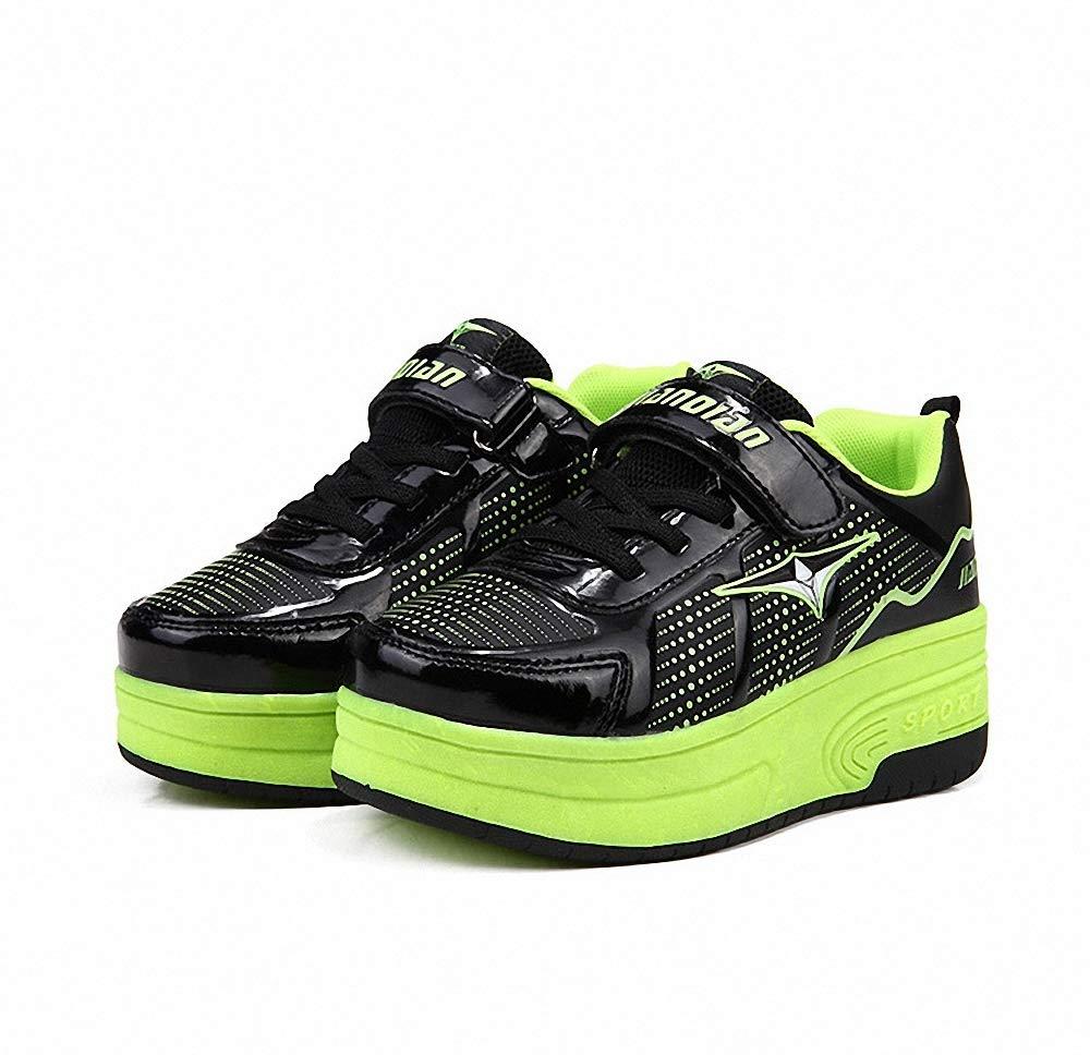 Miarui Sneakers mit Rollen M/ädchen Junge Mode Rollenschuhe Unisex Skateboard Schuhe Rollen Schuhe Sportschuhe Laufschuhe mit Automatisch Verstellbares R/äder Geeignet f/ür Erwachsene und Kinder
