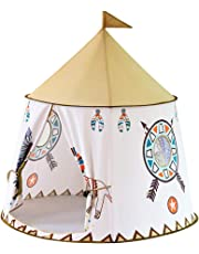 HOMYL Easy to Pop Up Princess Girl Teepee Castle Tent Play Ball Pit Children Fairy Playhouse Garden Activity Toy - Lion